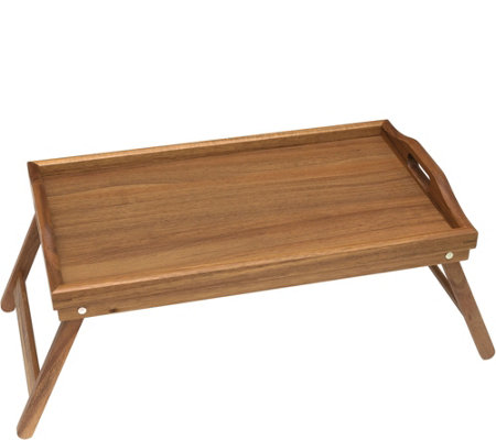 Lipper Acacia Bed Tray with Folding Legs