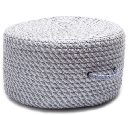Bright Twist Pouf Amethyst And White 20 X 20 X 11