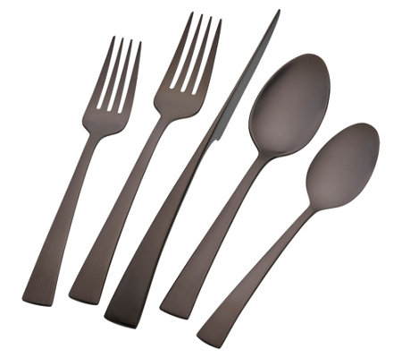 Zwilling J A Henckels Bellasera Black 20 Pieceflatware Set