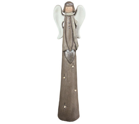 Northlight LED Lighted Angel with Heart Tabletop Figure