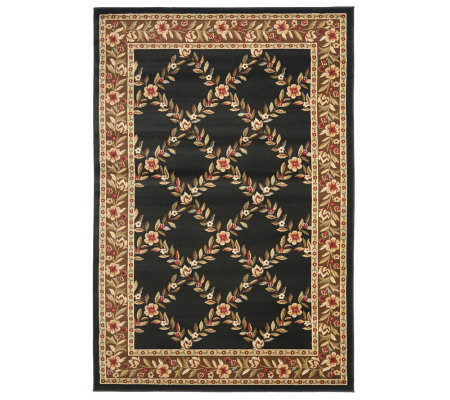 "Lyndhurst Open Floral Power Loomed 5'3"" x 7'6""Rug"