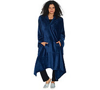 "Throwbee 55"" x 80"" Ultra Soft Convertible Throw/Poncho - H217647"