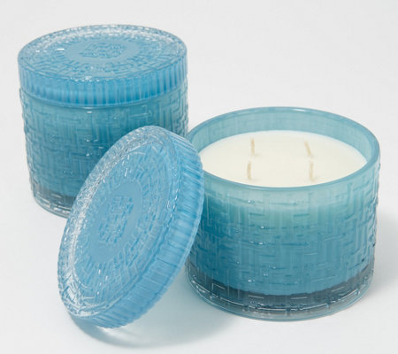 HomeWorx by Harry Slatkin Set of 2 Fresh Cotton Clouds 4-Wick Candles