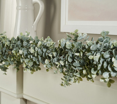 5.5' Decorative Faux Eucalyptus Garland by Valerie