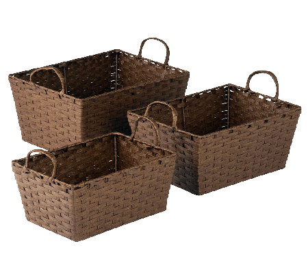Honey-Can-Do 3-pc Paper Rope Basket Set - Brown