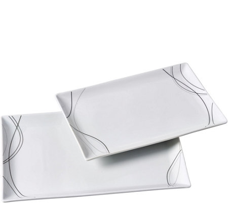 Tabletops Gallery 2-Piece Rectangular Platter Set - Alec