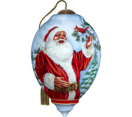 Santa's Feathered Friend Ornament by Ne'Qwa
