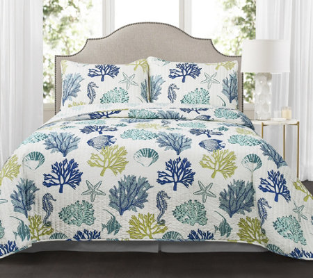 Coastal Reef 3-Piece Full/Queen Quilt Set by Lush Decor