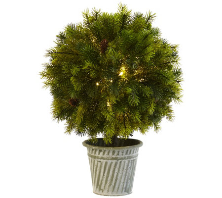 "18"" Pine Ball in Iron Top by Nearly Natural"