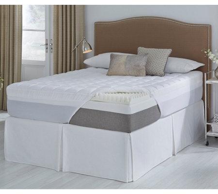 Comforpedic From Beautyrest Full 4 5 Reversible Foam Topper