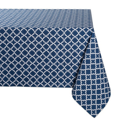 Design Imports Lattice Print Tablecloth 60 X104