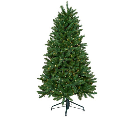 """As Is"" Santa's Best 5' Starry Light Microlight Tree w/LED Lights"