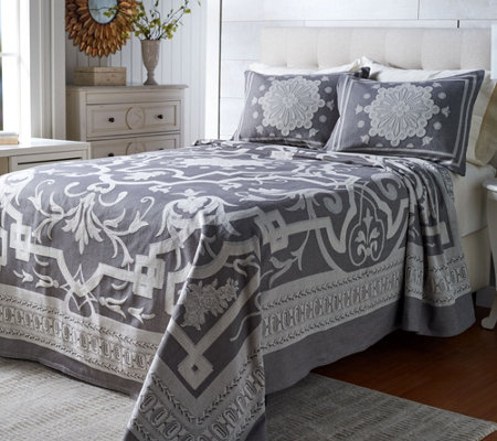 """As Is"" Barbedo 100% Cotton Woven Jacquard Bedspread"