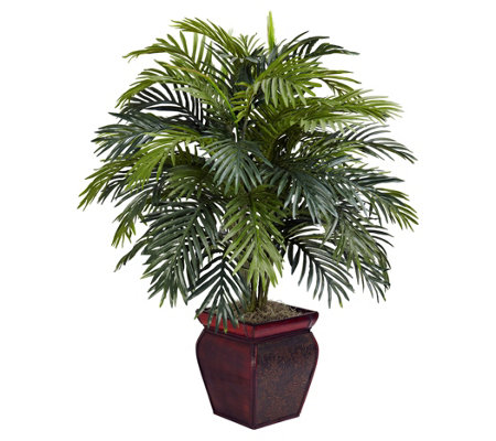 Areca Silk Plant w/Decorative Planter by NearlyNatural