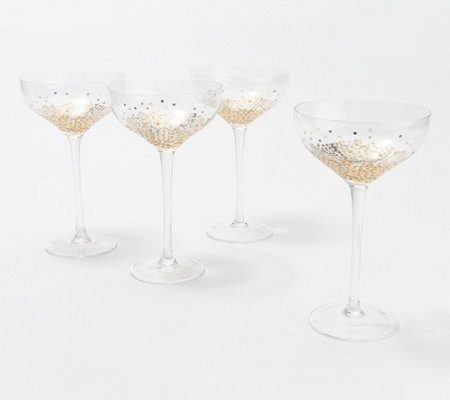 Artland Ambrosia Set Of 4 Champagne Coupe Glasses