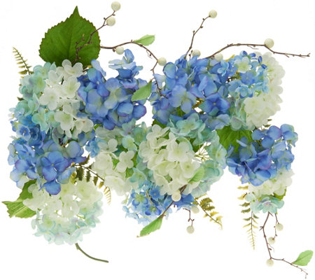 """As Is"" 4' Watercolor Hydrangea Garland by Valerie"