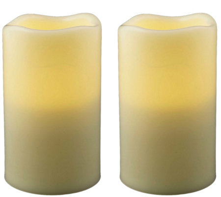 "Pacific Accents Set of 2 Melted Resin 3"" x 4-3/4"" Candles"