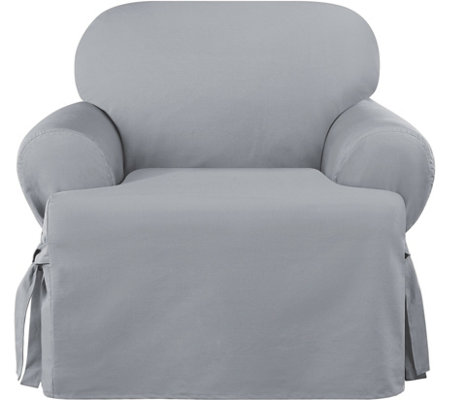 Sure Fit Cotton Duck T-Cushion ChairSlip Cover