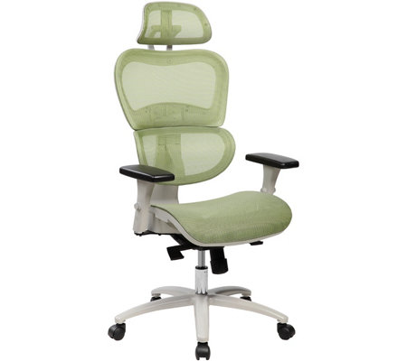 super popular 077d2 751e8 Techni Mobili High-Back Mesh Elegant Office Chair — QVC.com