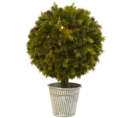 "23"" Pine Ball in Iron Top by Nearly Natural"