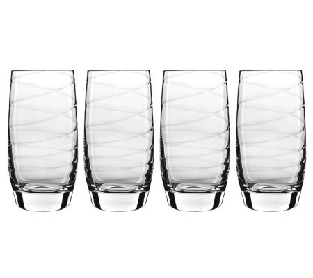 Luigi Bormioli 19-oz Romantica Beverage Glasses- Set of 4