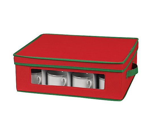 Household Essentials Holiday Cup Storage Chest