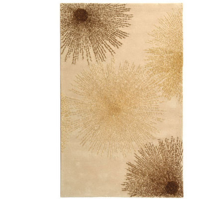 "Soho 3'6"" x 5'6"" Abstract Handtufted Wool/Viscose Blend Rug"