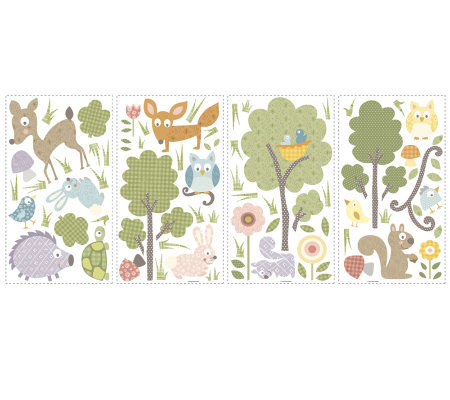 RoomMates Woodland Animals Peel & Stick Wall Decals