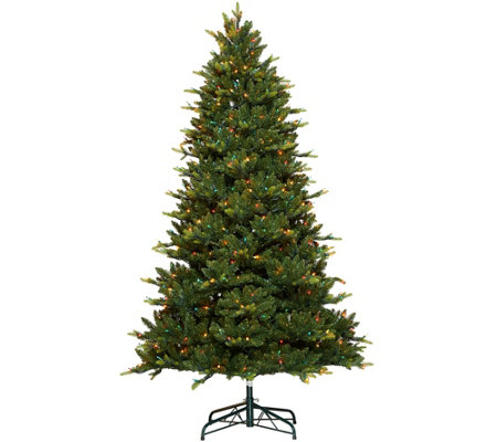 """As Is"" Bethlehem Lights 7.5' Grand Fir Tree with Swift Lock"