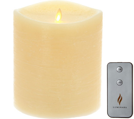 "Luminara 6"" Rustic Flameless Candle with Remote"