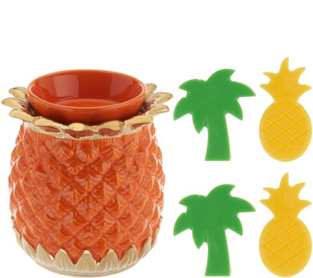HomeWorx by Harry Slatkin Pineapple Warmer with 4 Meltables