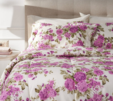 """As Is"" Delaney All Over Floral King 3 Pc. Comforter Set with Shams"