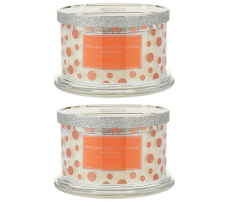 HomeWorx by Harry Slatkin Set of 2 Cocktail 4-Wick Candles