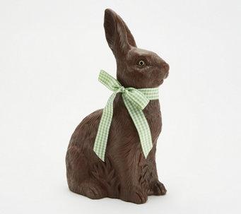 "Martha Stewart 10"" Resin Chocolate Bunny Figurine - H218650"