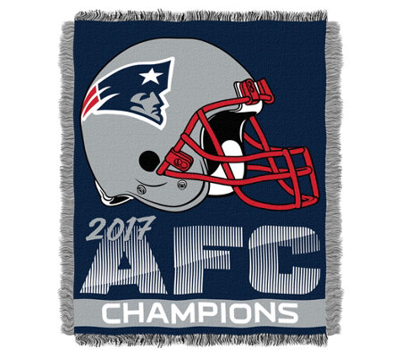 2017 AFC Champs New England Patriots Jacquard Throw