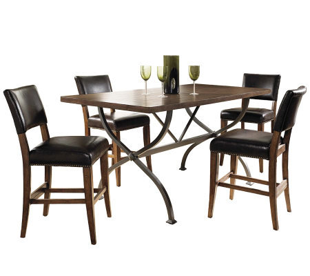 Hillsdale Cameron 5pc Ctr Ht Rect Dining Set w/Parson Chairs