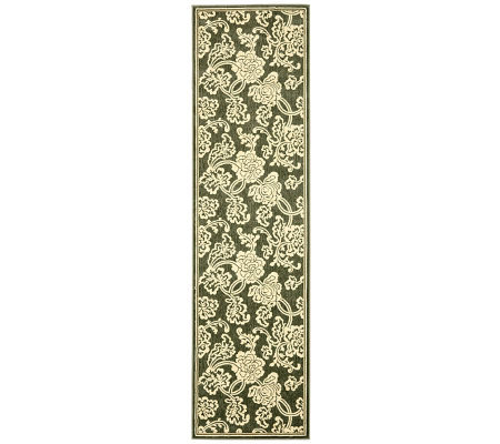 "Treasures Allover Floral Power-Loomed Rug - 2'2"" x 8'"