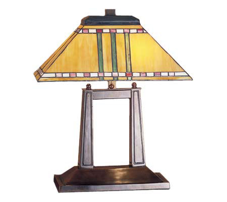"Tiffany Style 19""H Corn Oblong Mission-style Lamp"
