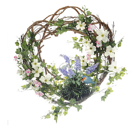 Welcome Friends Spring Wreath by Valerie