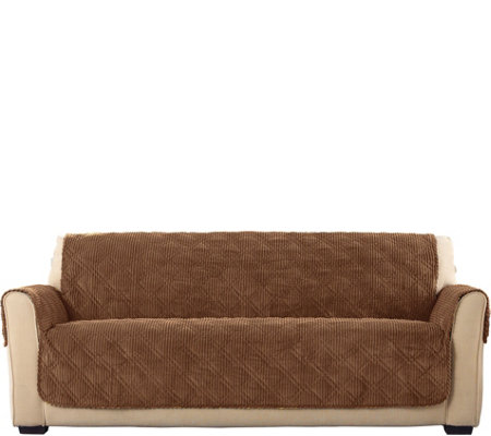 Sure Fit Corduroy Sofa Furniture Cover