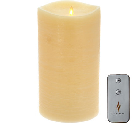 "Luminara 10"" Rustic Flameless Candle with Remote"