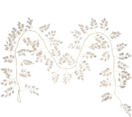 """As Is"" 4' Glittered Leaf Garland by Valerie"