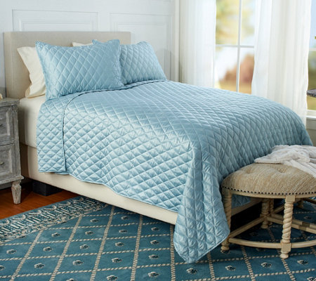 Fielder Home Diamond Stitch 2-Piece Twin Quilt Set