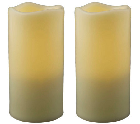 "Pacific Accents Set of 2 Melted Resin 3"" x 5-3/4"" Candles"