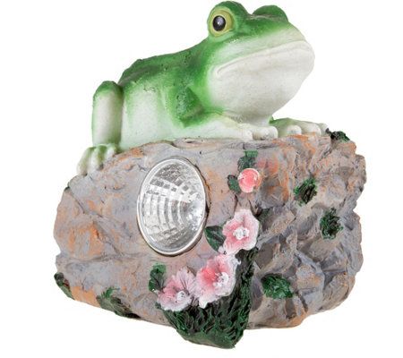 Pure Garden Solar LED Light & Battery-OperatedFrog Statue