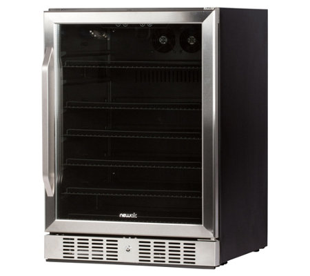 NewAir 177-Can Deluxe Beverage Cooler - Stainless Steel