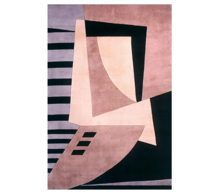 Momeni New Wave Abstract 3 6 X 5 6 Handmade Wool Rug