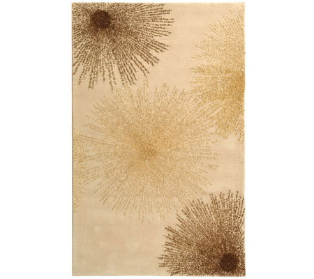 Soho 5' x 8' Abstract Handtufted Wool/Viscose Blend Rug