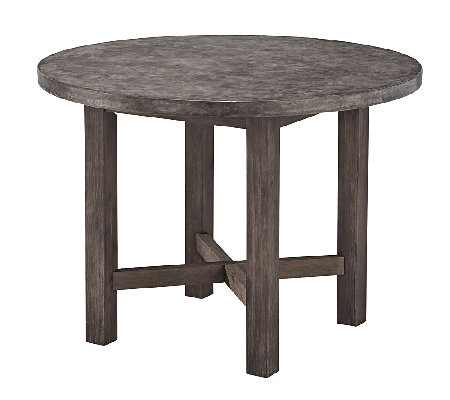 Home Styles Outdoor Concrete Chic Round DiningTable