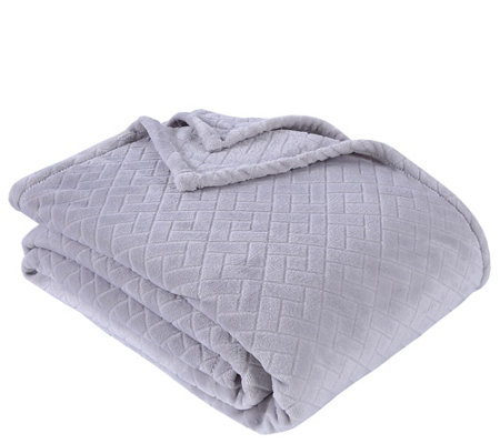 Berkshire Blanket Embossed Basket Weave King Bed Blanket